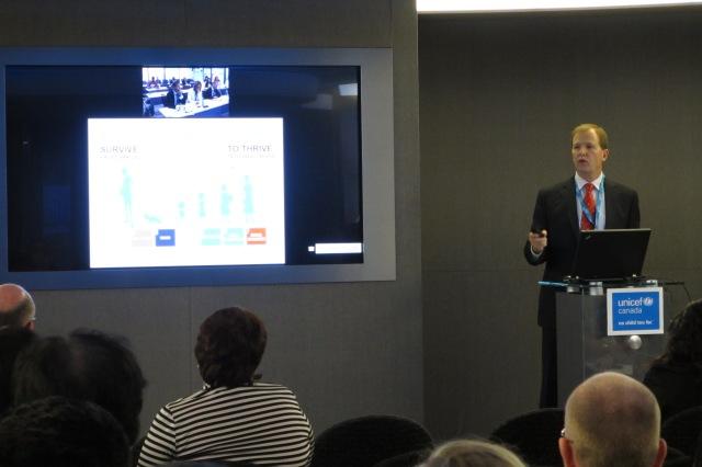 David Morely, président et PDG d'UNICEF Canada, a donné un exposé via Cisco TelePresence pendant l'assemblée générale annuelle de l'UNICEF.