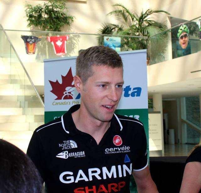 Ryder Hesjedal à la d'Alberta du Tour. Photo avec la permission Tour d'Alberta (Facebook).