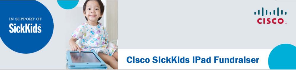 SickKids iPad Fund. Banner