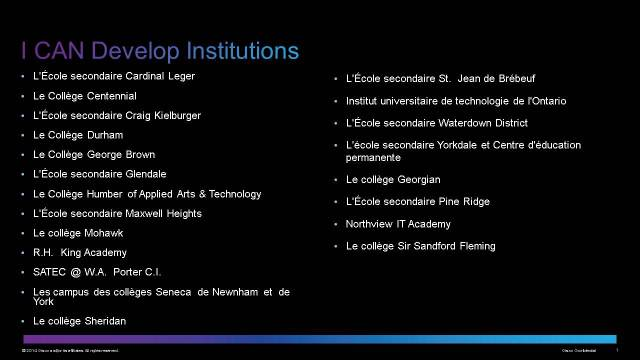 Institutions Slide - I CAN Develop - FR