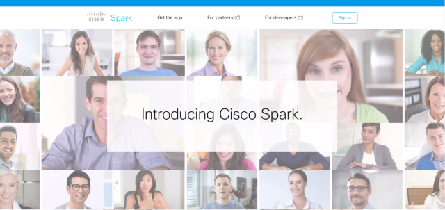 Cisco Spark homepage